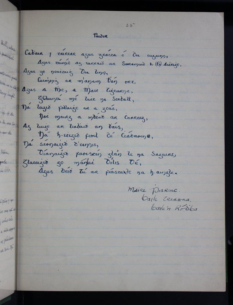 Scoil na mBráthar, Baile 'n Ródhba   The Schools' Collection