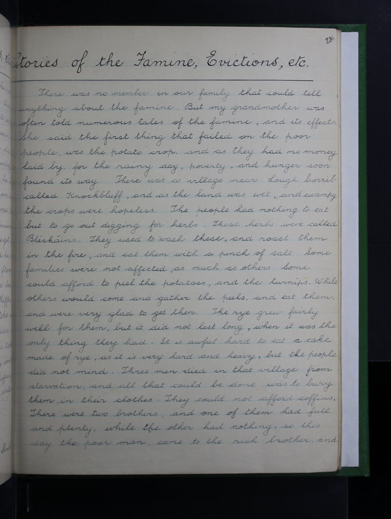 Stories of the Famine, Evictions, etc.