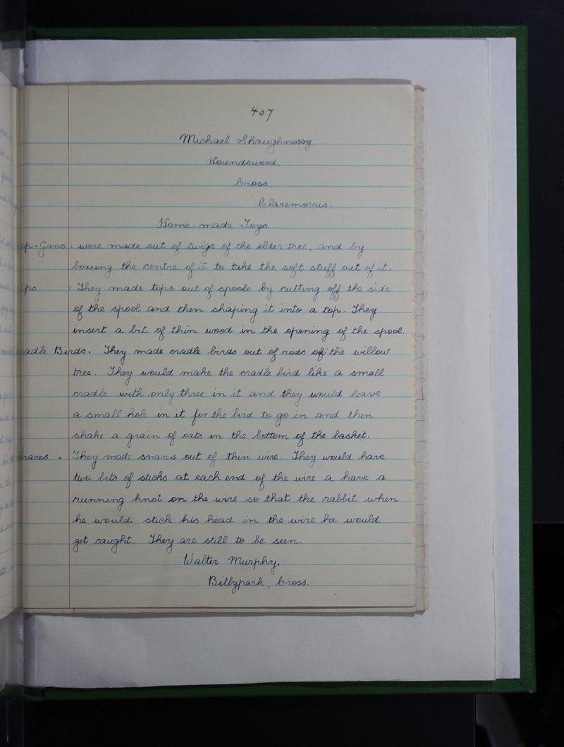 Naomh Feichín, Cros | The Schools' Collection