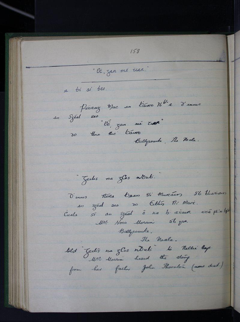 Caisleán na hÉille (The Neale) | The Schools' Collection