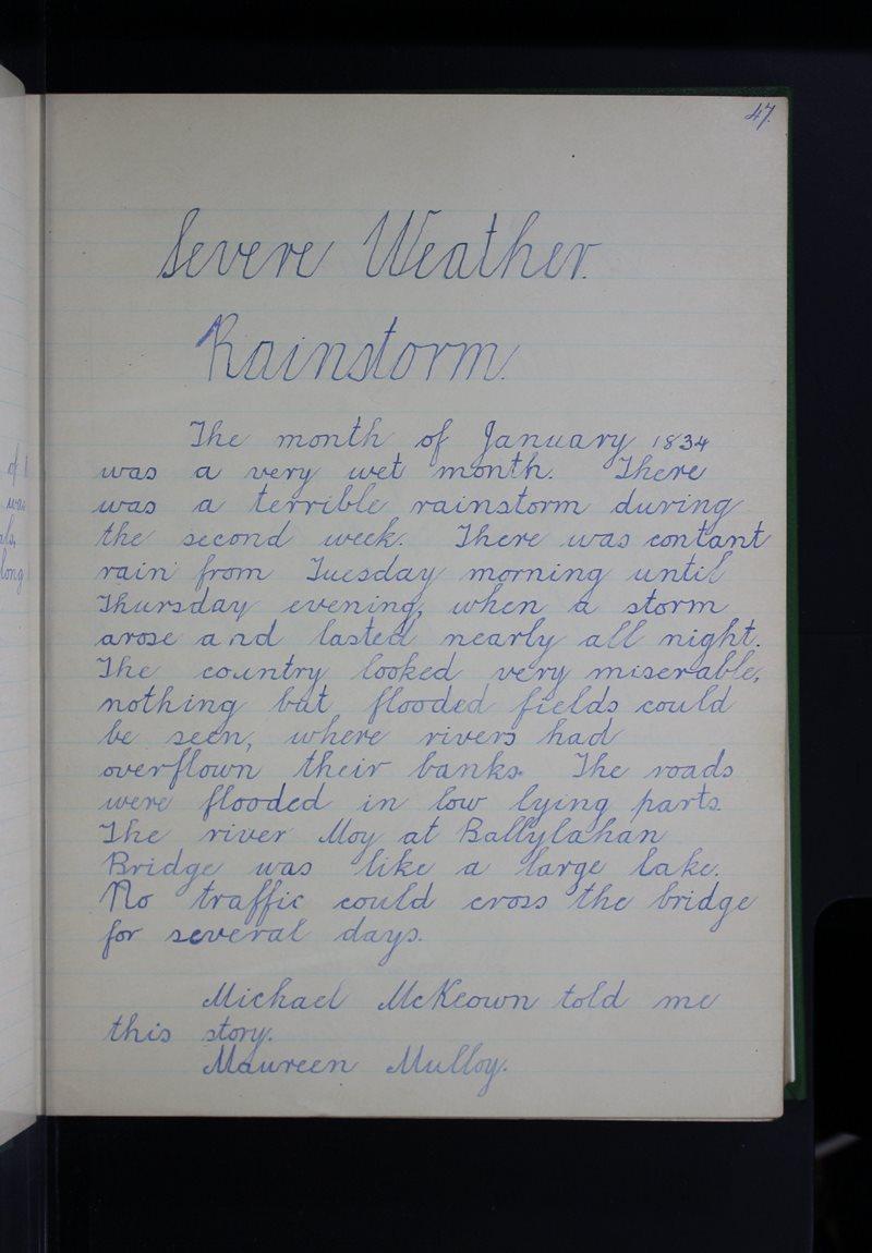 Severe Weather - Rainstorm