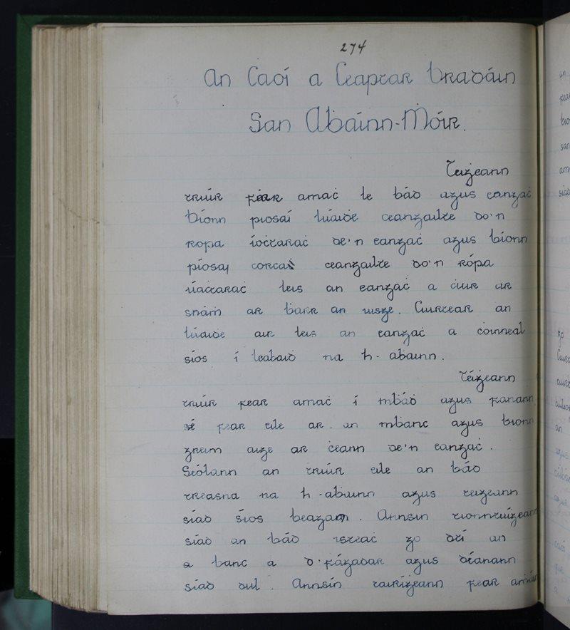 An Chaoi a gCeaptar Bradáin san Abhainn Mhór