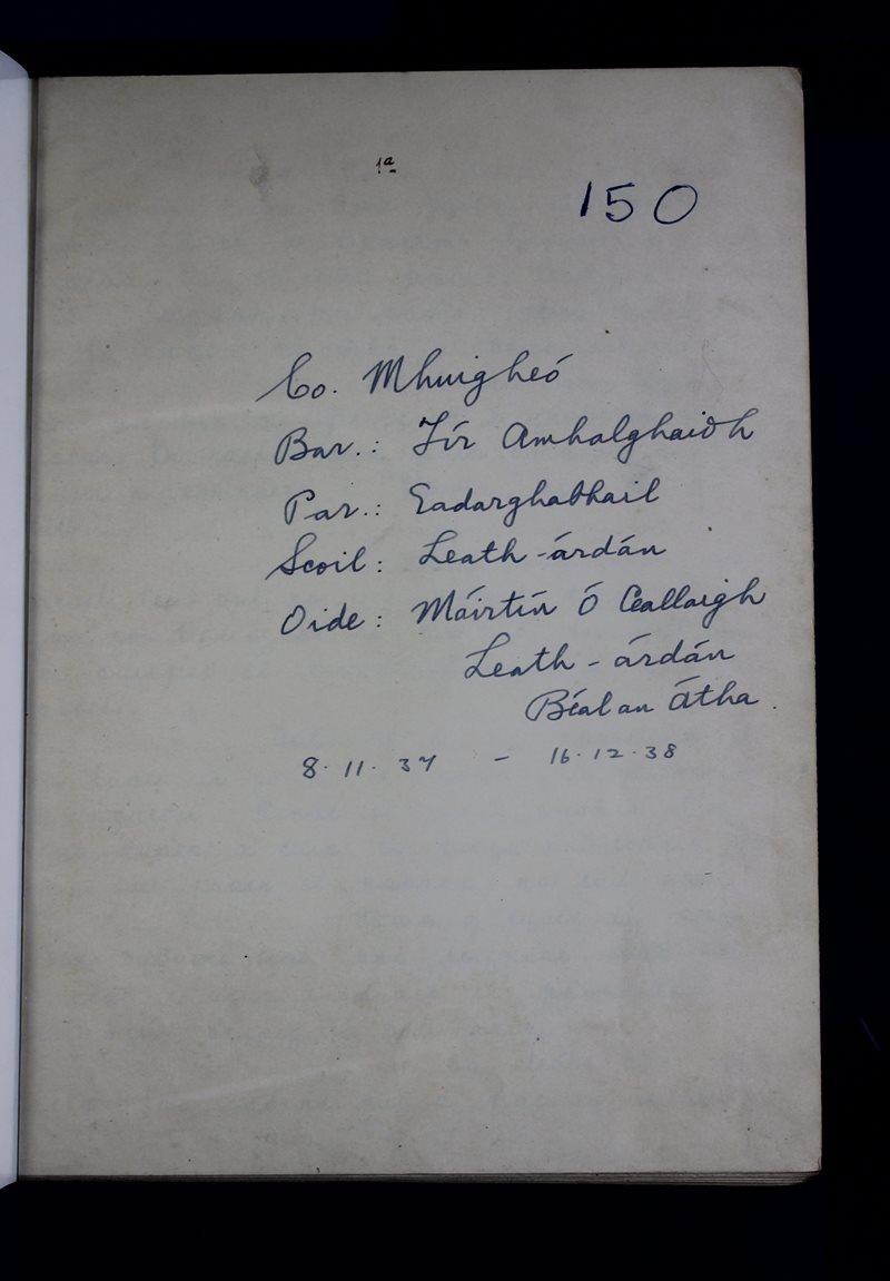 Leath-árdán   The Schools' Collection