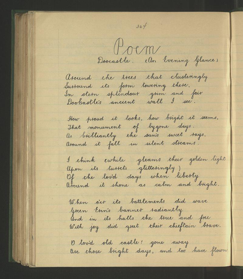 Poem - Doocastle (An Evening Glance)