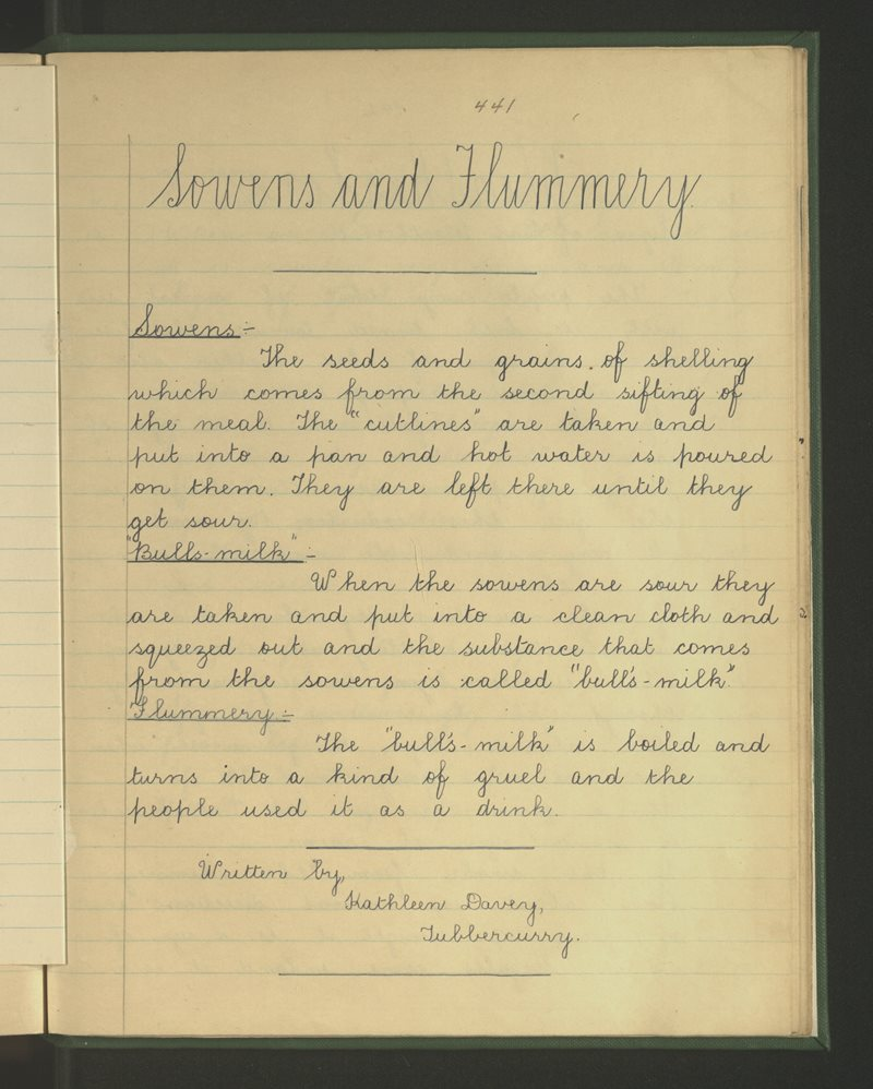 Sowens and Flummery
