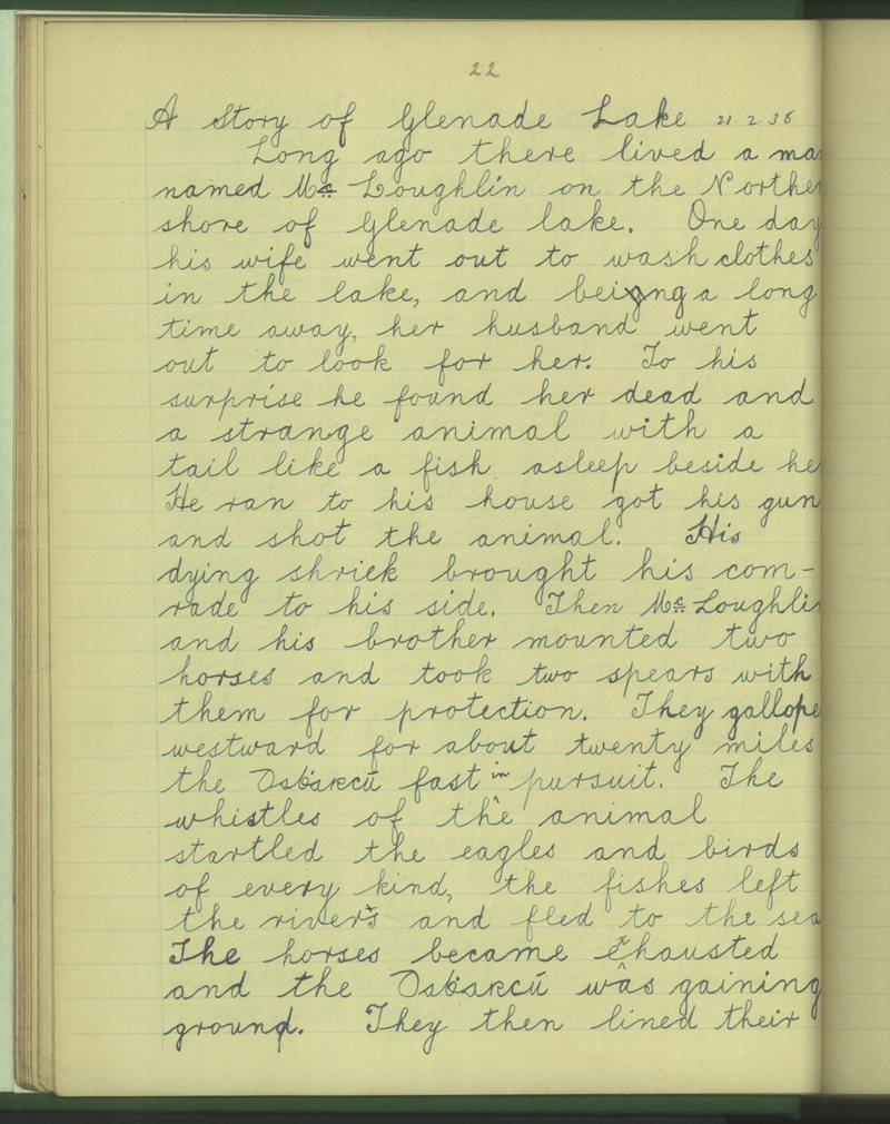 The Story of Glenade Lake