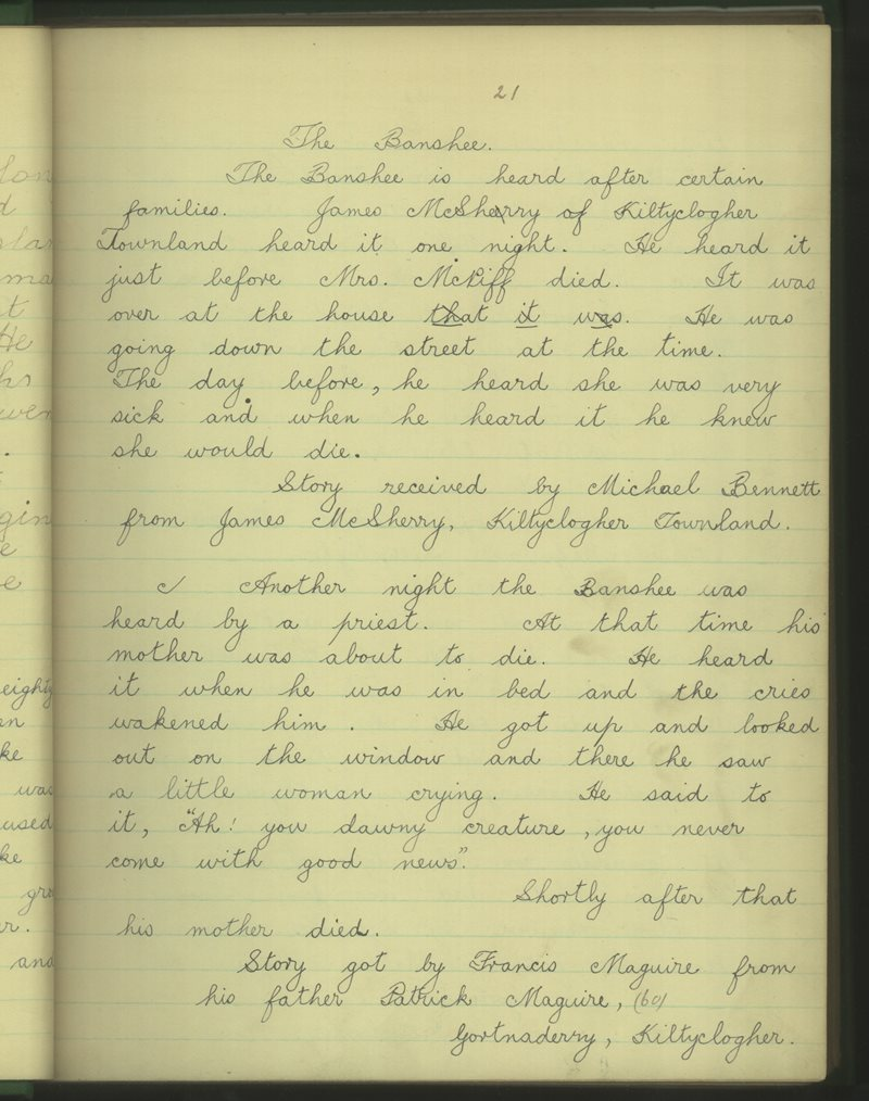Coillte Clochair (B.)   The Schools' Collection