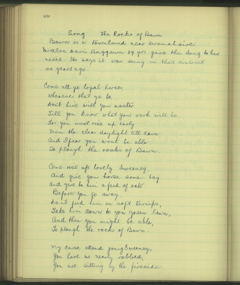 Song - The Rocks of Bawn