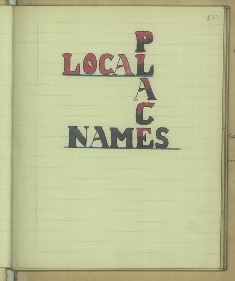 Local Place Names