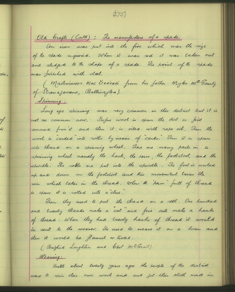 Sliabh na Cille | The Schools' Collection