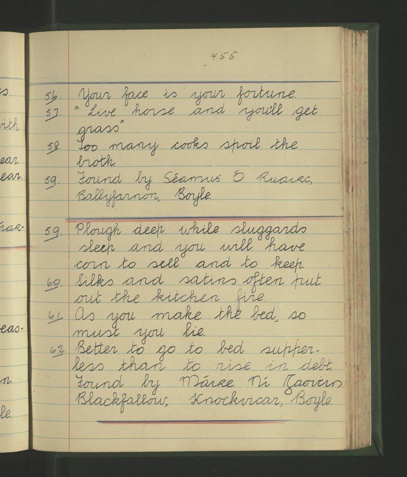 Naomh Pádraig, Knockvicar   The Schools' Collection