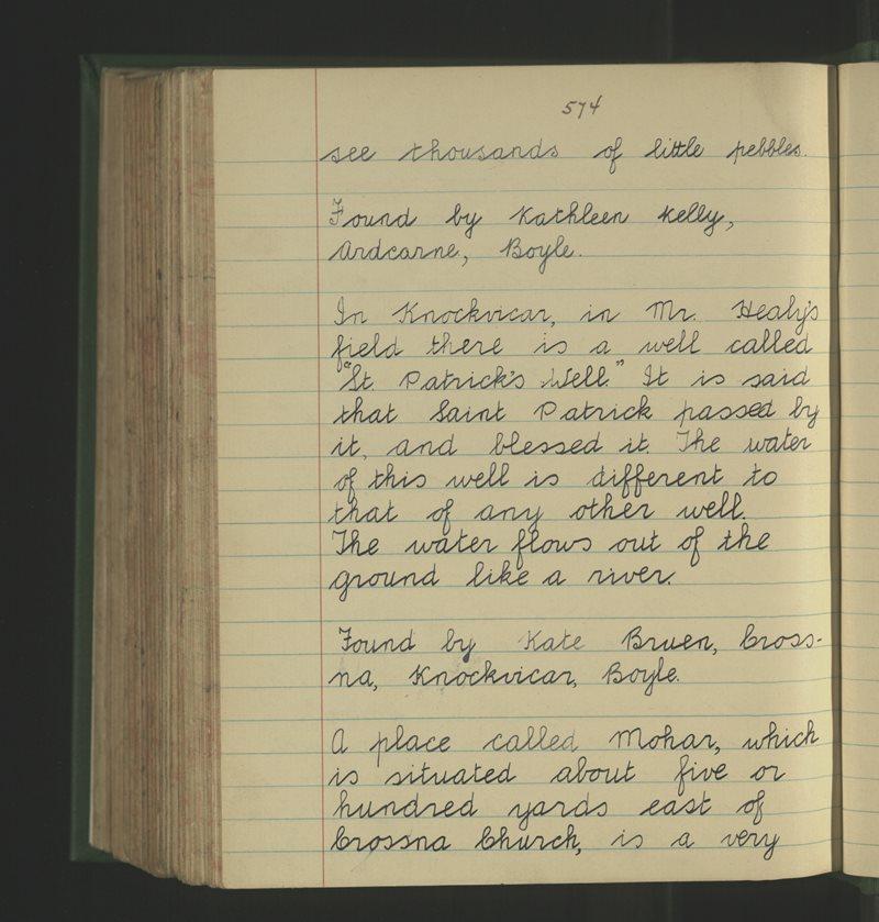Naomh Pádraig, Knockvicar | The Schools' Collection