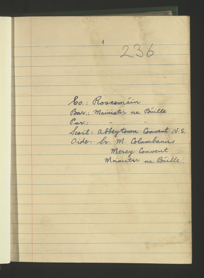 Abbeytown Convent N.S. | The Schools' Collection