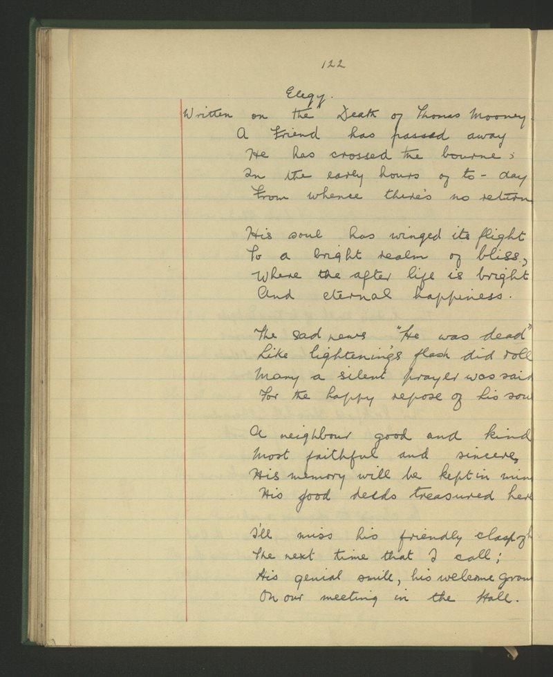 Elegy - Written on the Death of Thomas Mooney