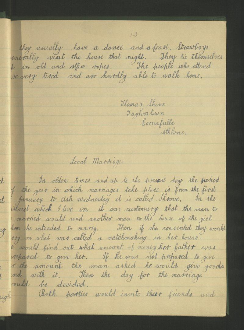 Cor na Fola (B.) | The Schools' Collection