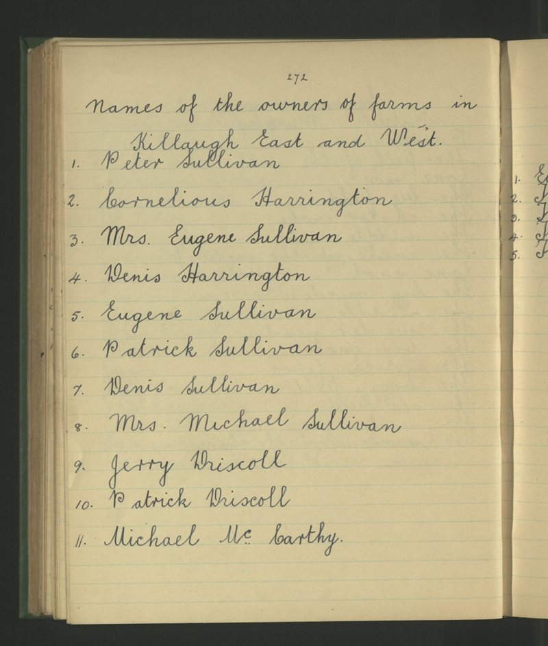 Names of the Owners of Farms in Killaugh East and West