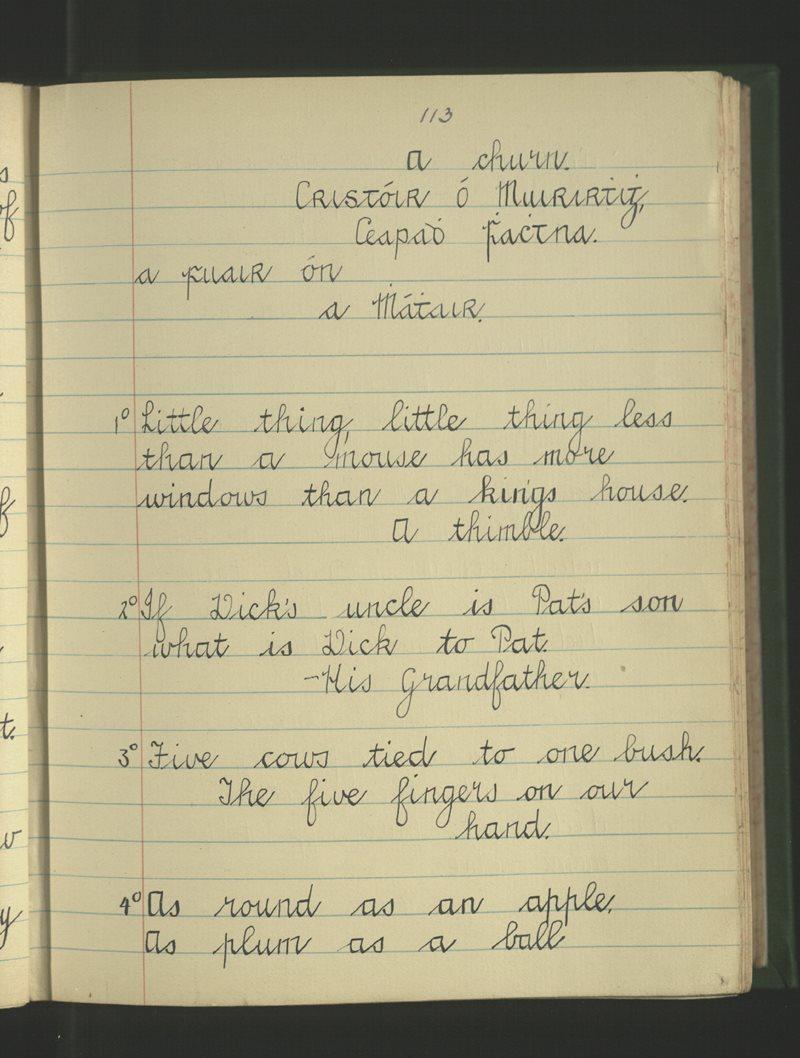 An Gleann Garbh   The Schools' Collection