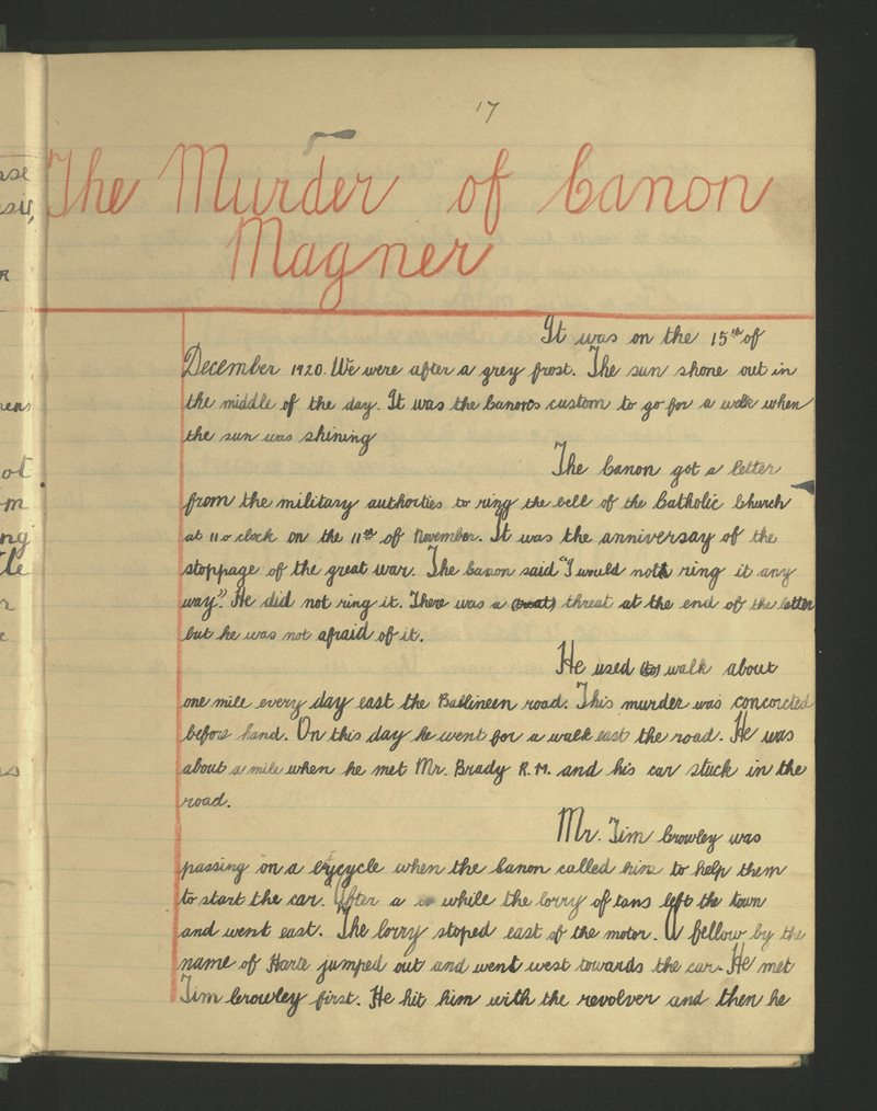The Murder of Canon Magner