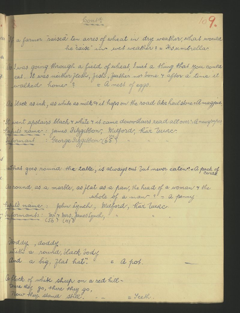 Cill Bheoláin (B.), Áth an Mhuilinn, Ráth Luirc | Bailiúchán na Scol