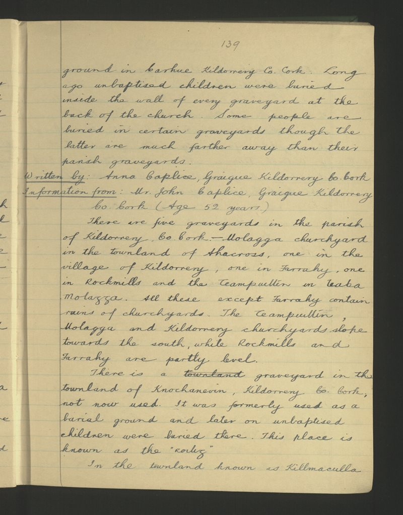 Graigue, Cill Dairbhe | The Schools' Collection