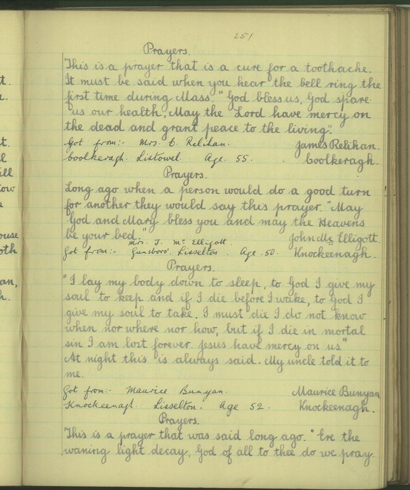 An Chúil Árd | The Schools' Collection