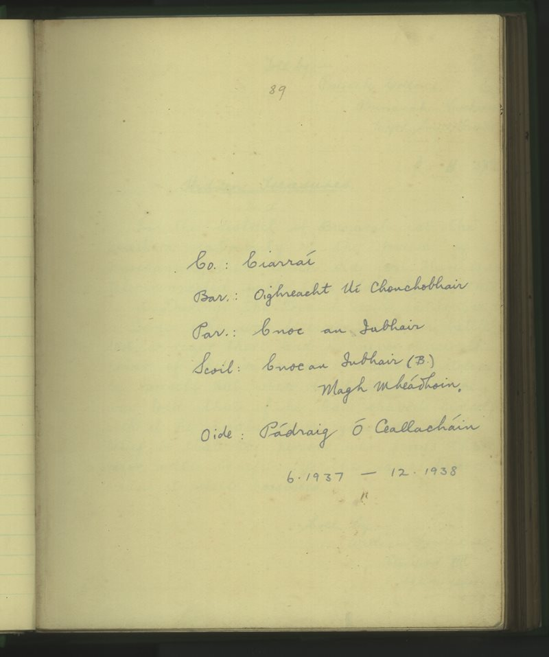 Cnoc an Iubhair (B.)   The Schools' Collection