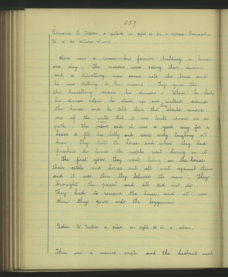 Dromlogach Mainistir na Féile | The Schools' Collection