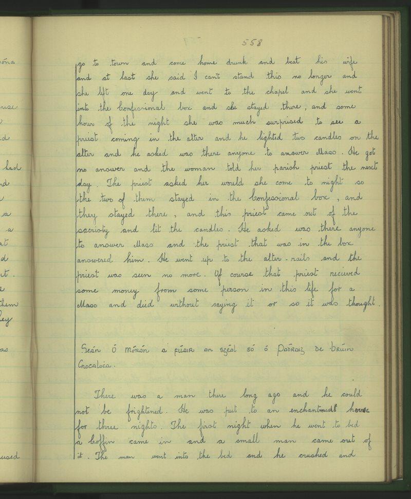 Dromlogach Mainistir na Féile   The Schools' Collection