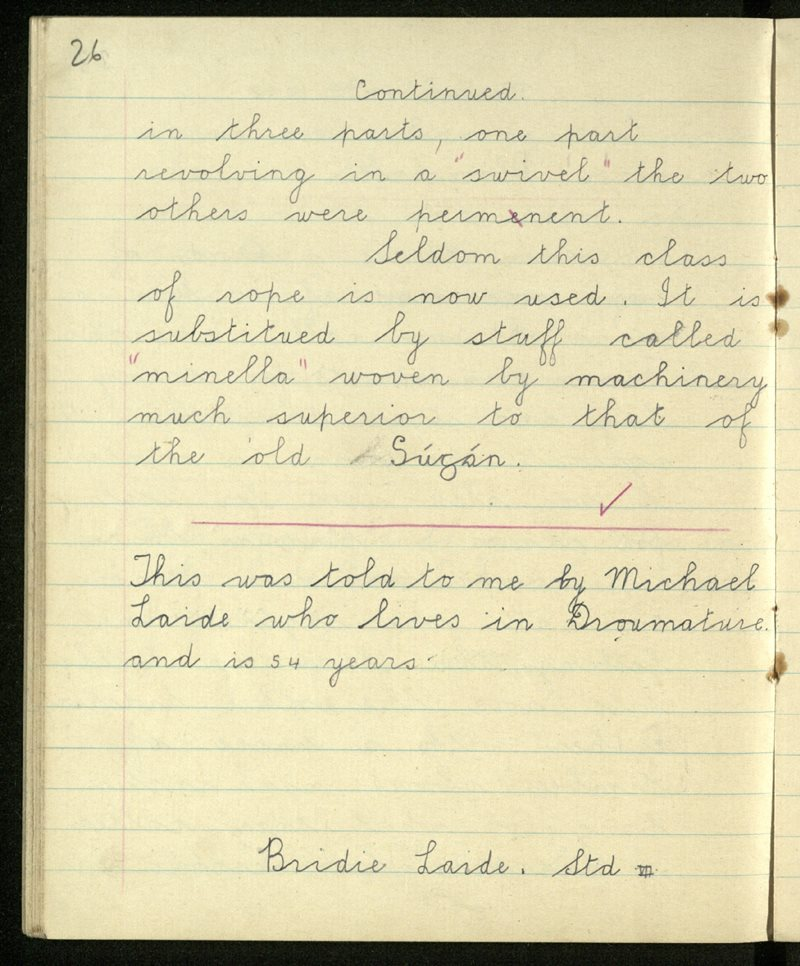 Gleann Doire (C.)   The Schools' Collection