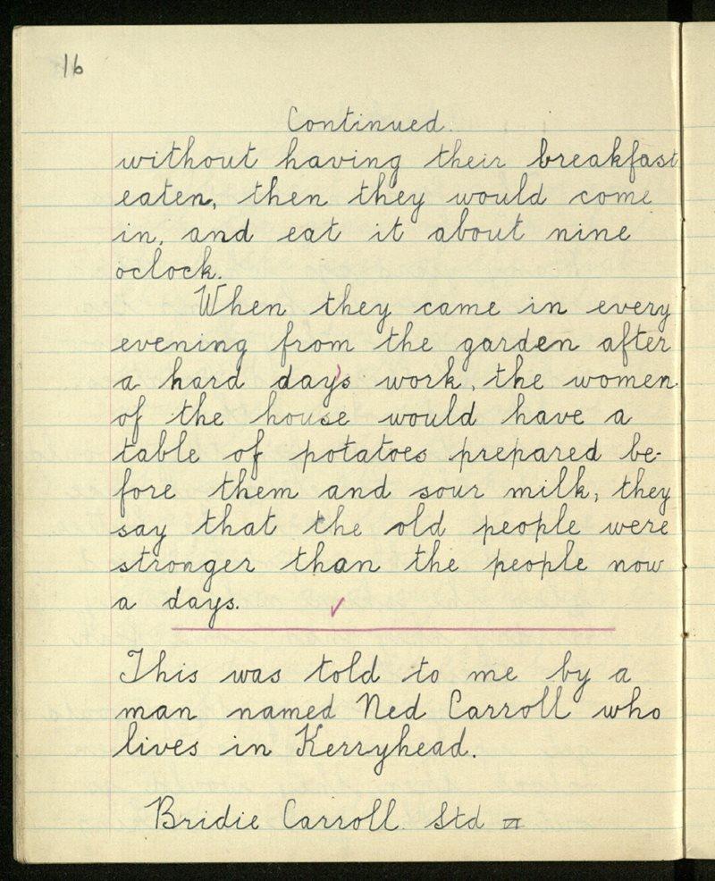 Gleann Doire (C.) | The Schools' Collection