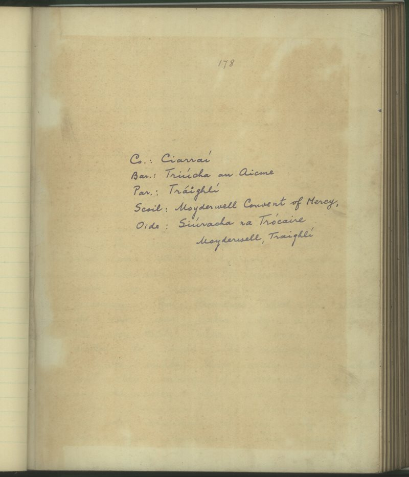 Moyderwell Convent of Mercy | The Schools' Collection