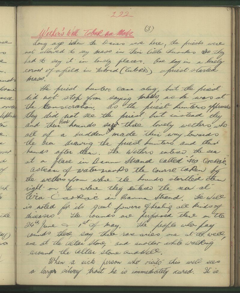 Listellick, Tráighlí | The Schools' Collection