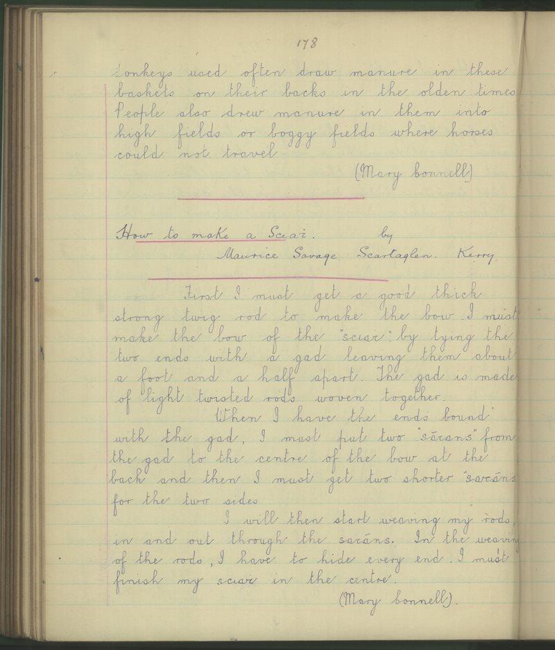 Cnuicín na hAbhann | The Schools' Collection