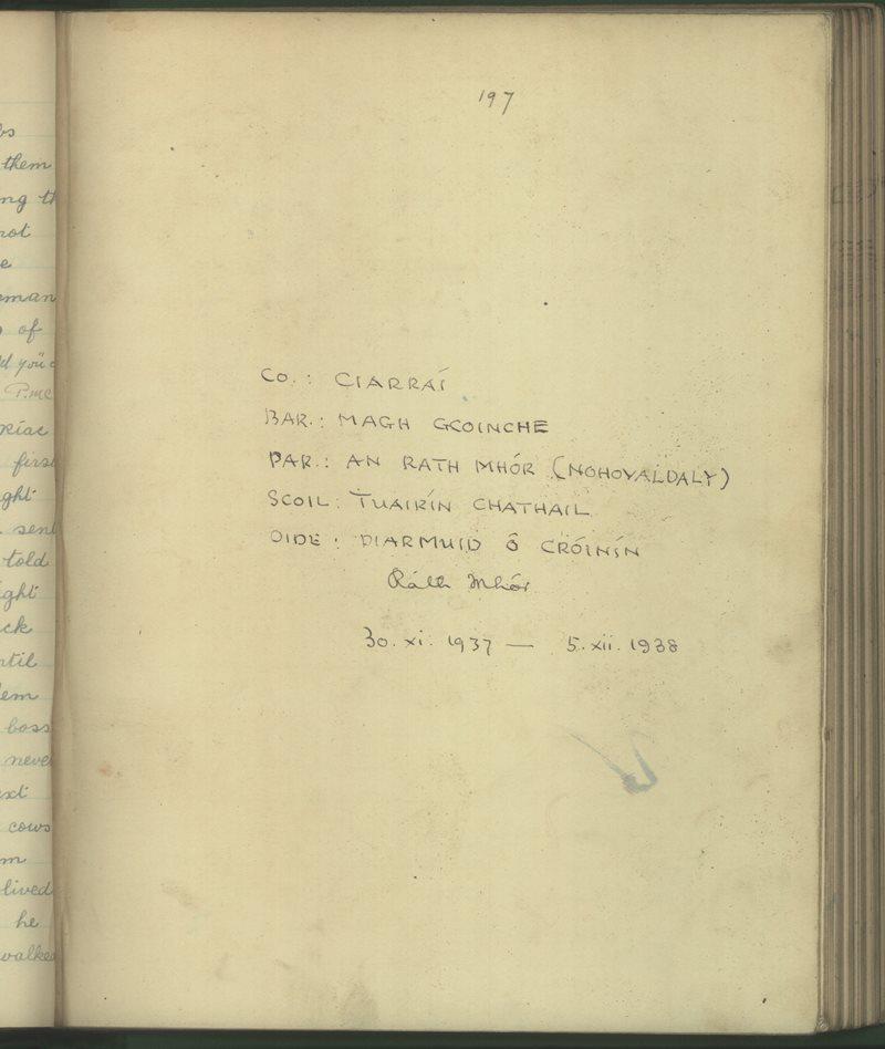 Tuairín Chathail (B.) | The Schools' Collection
