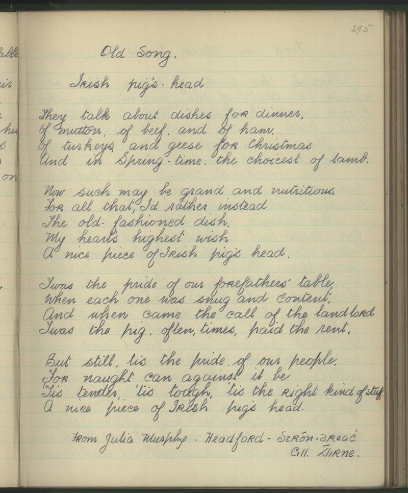 Old Songs - Irish Pig's Head