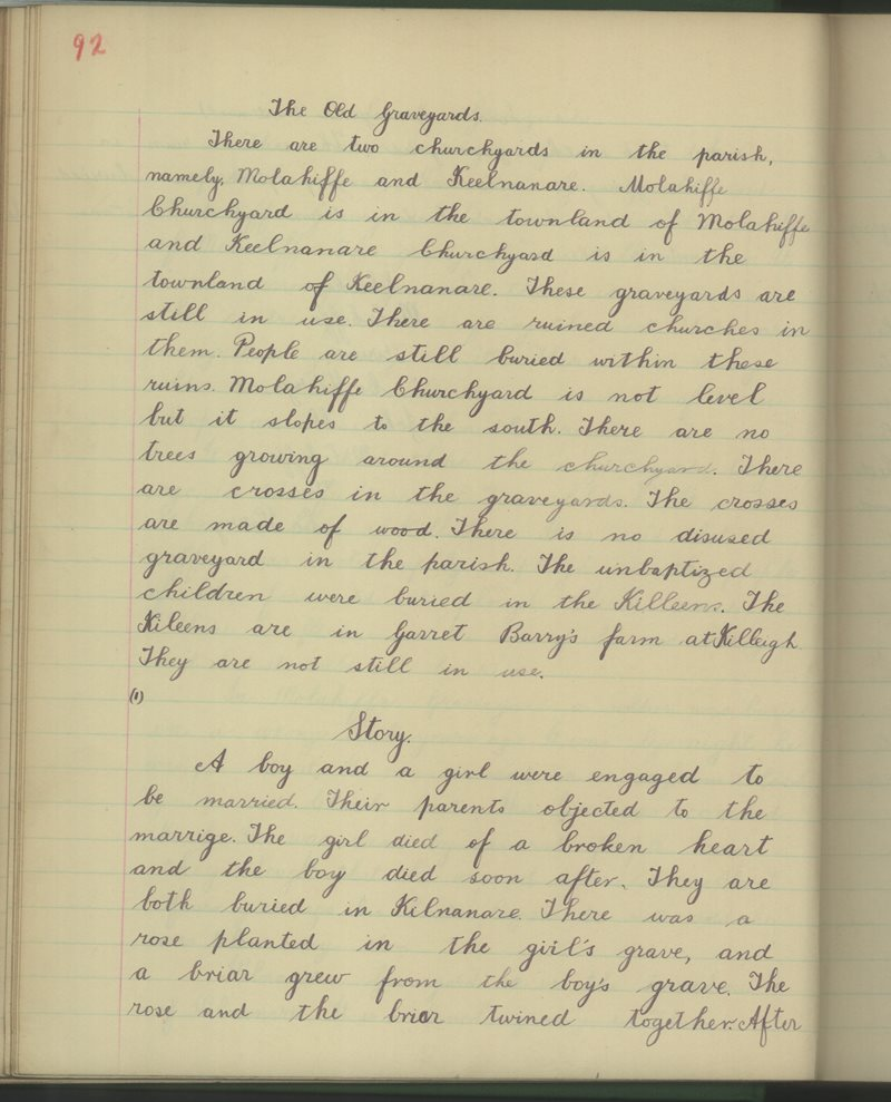 Cnoc an Doire (B.) | The Schools' Collection