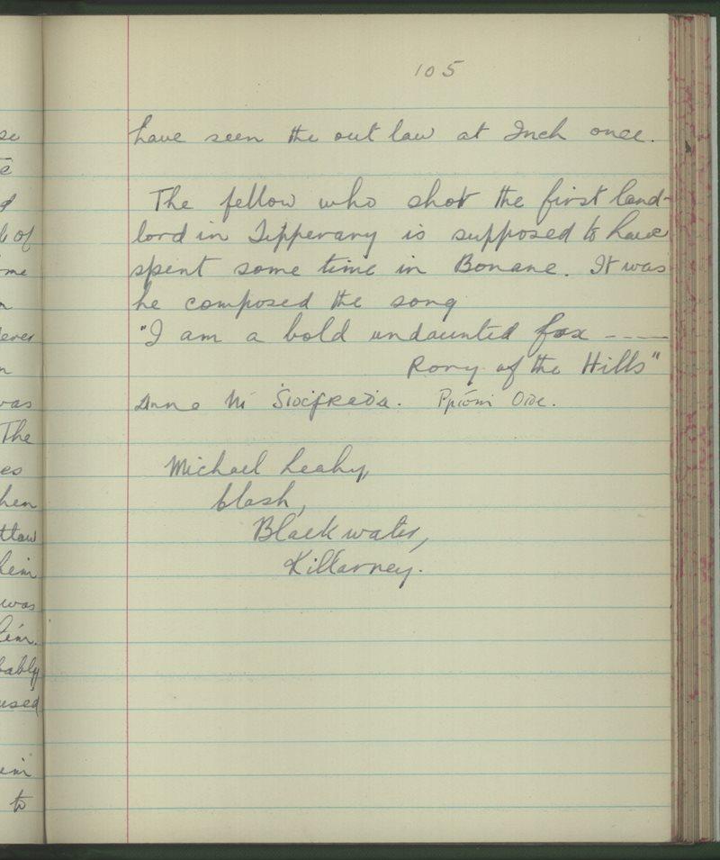 Gráig na Gréine | The Schools' Collection
