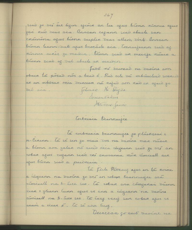 Cathair Samháin | The Schools' Collection