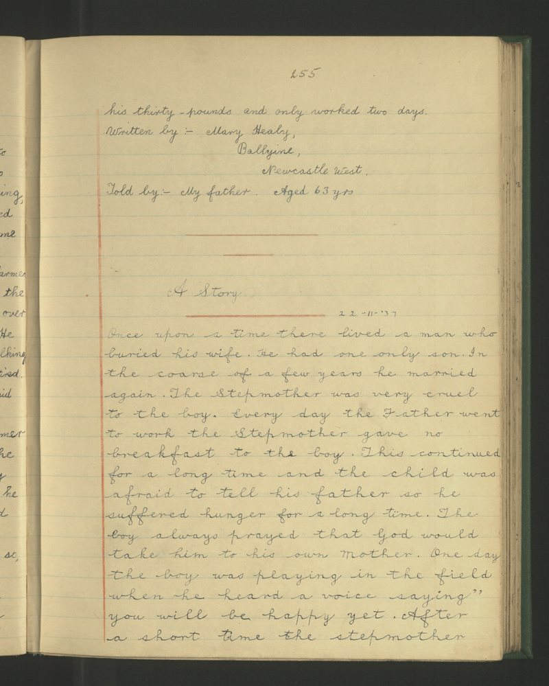 Ballyloghane, Caisleán Nua Thiar | The Schools' Collection