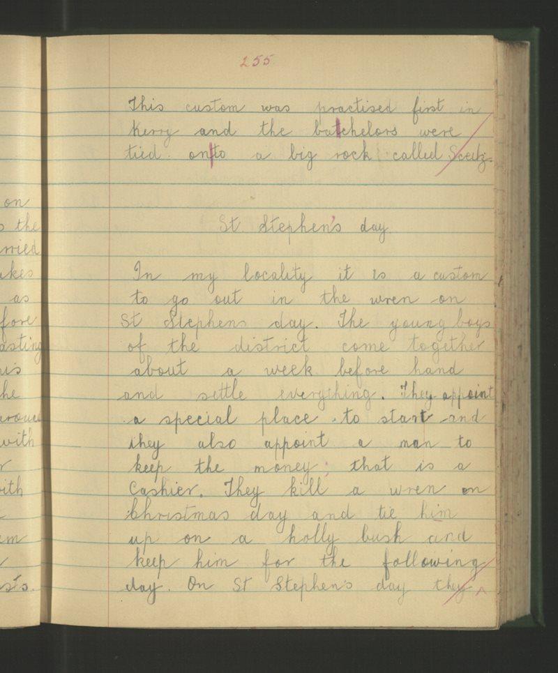 Scoil an Churnánaigh, Caisleán Nua Thiar   The Schools' Collection