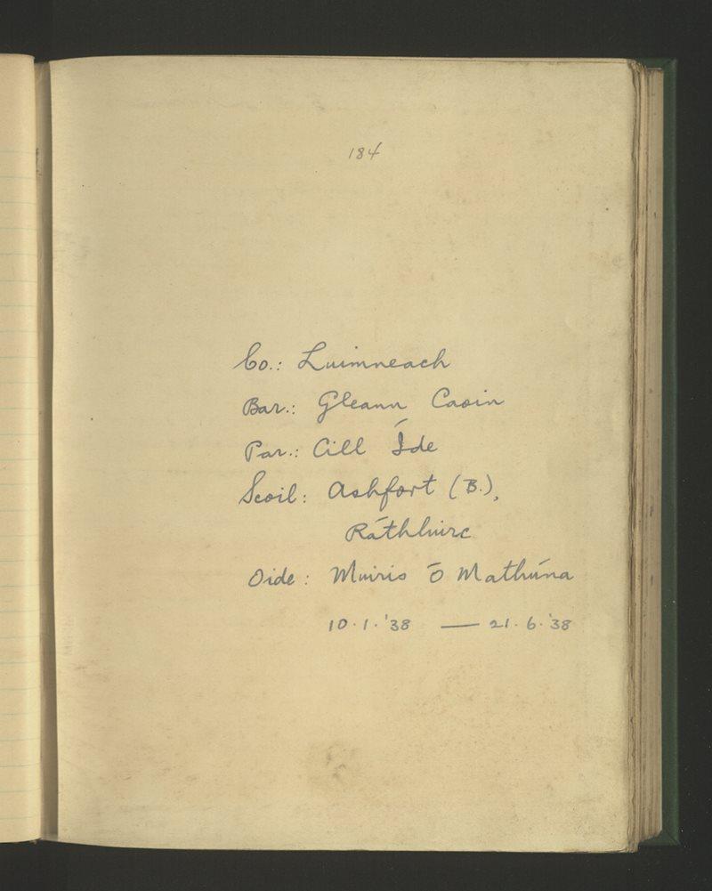 Ashfort (B.), Ráthluirc | The Schools' Collection