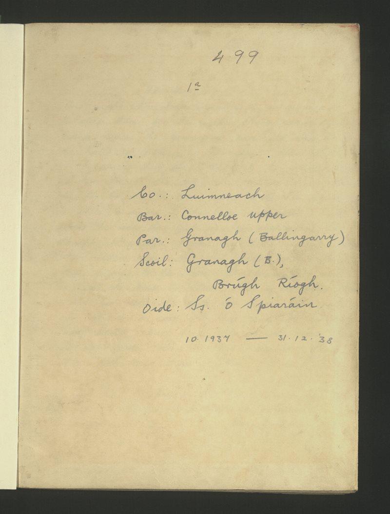 Granagh (B.), Brúgh Ríogh | The Schools' Collection
