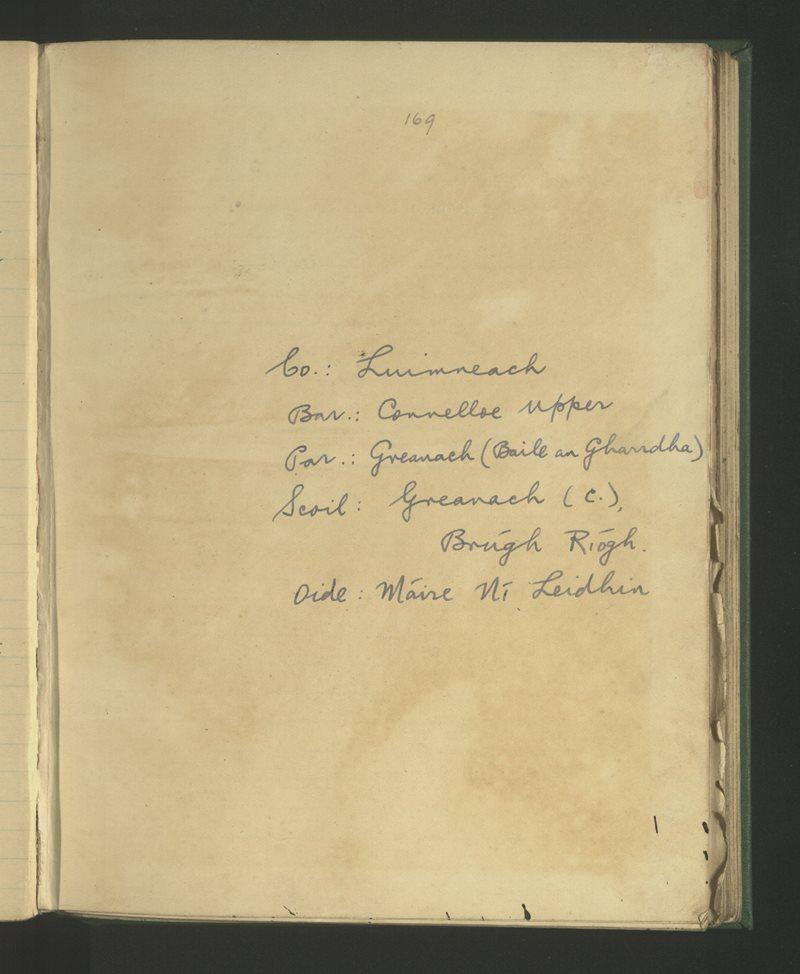 Granagh (C.), Brúgh Ríogh | The Schools' Collection