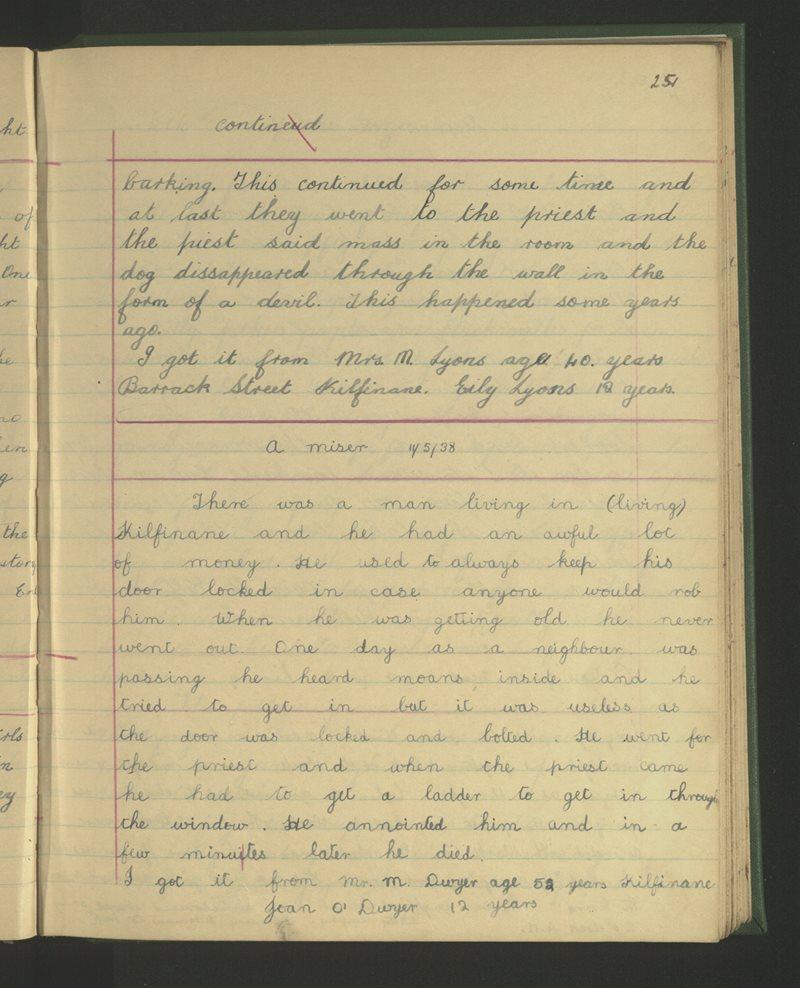 Clochar San Pól, Cill Fhíonáin | The Schools' Collection