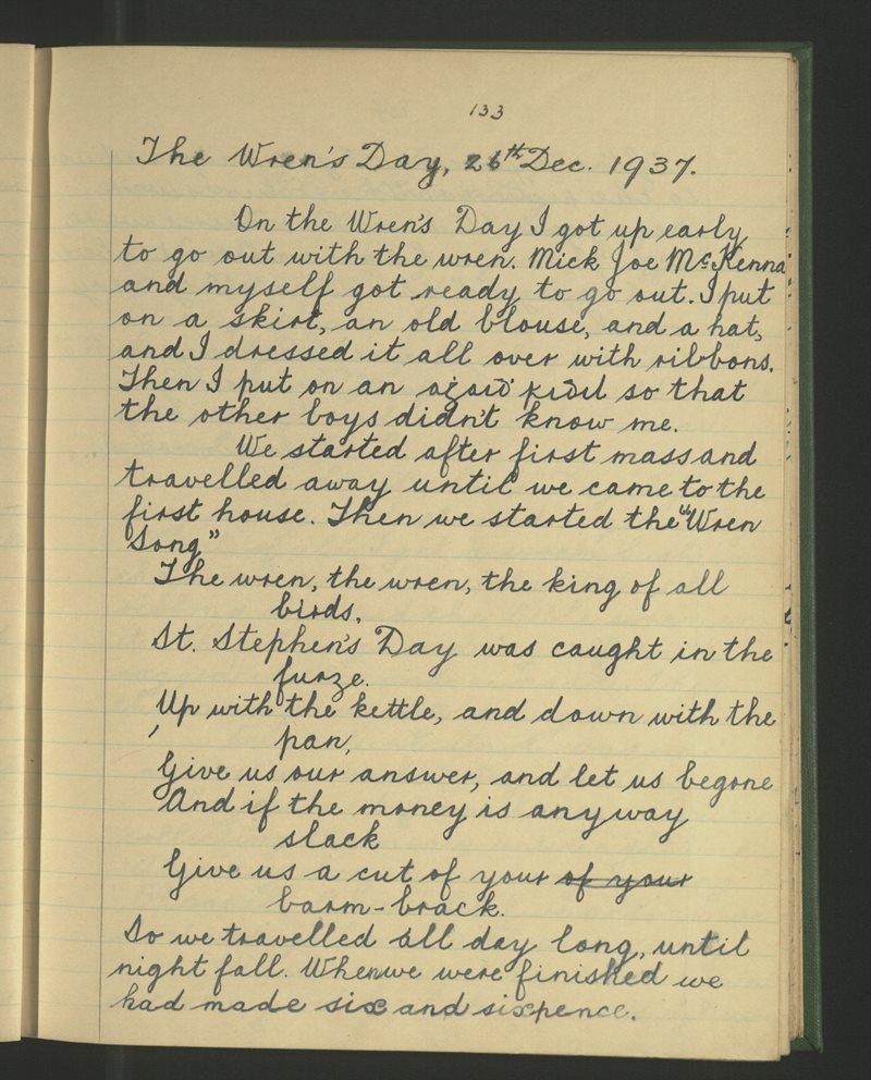 The Wren's Day, 26th December 1937