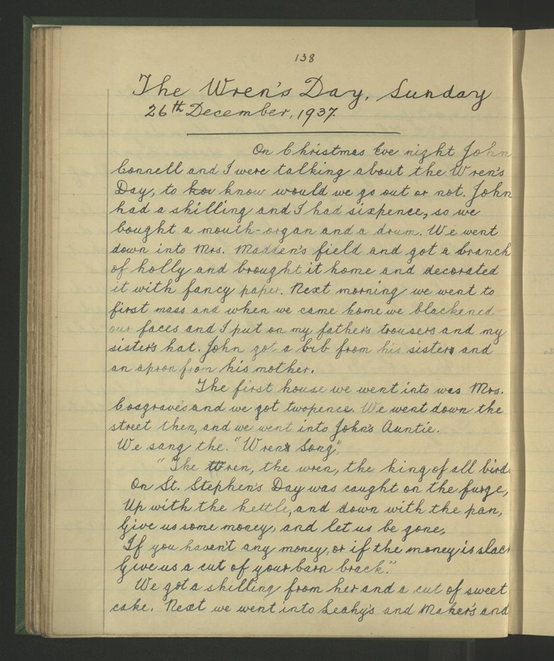 The Wren's Day, Sunday - 26th December 1937