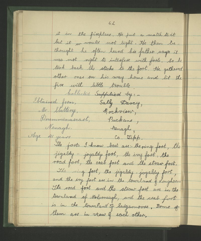 Cill an Daingin, Nenagh   The Schools' Collection