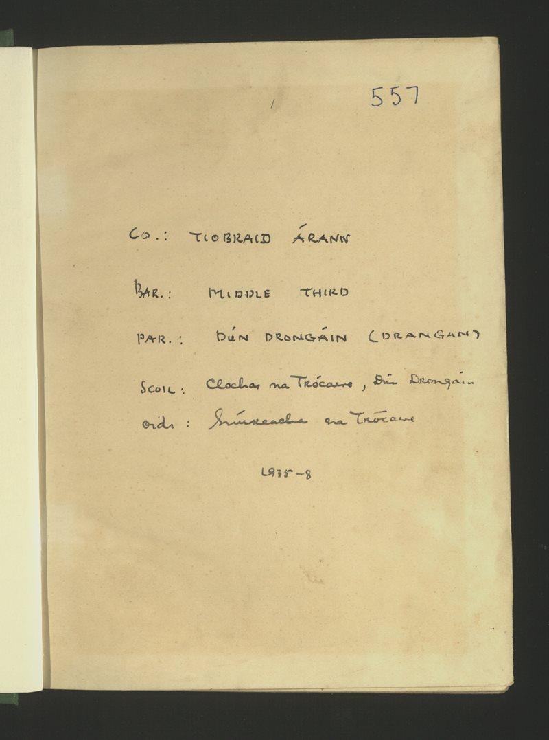 Clochar na Trócaire, Dún Drongáin   The Schools' Collection