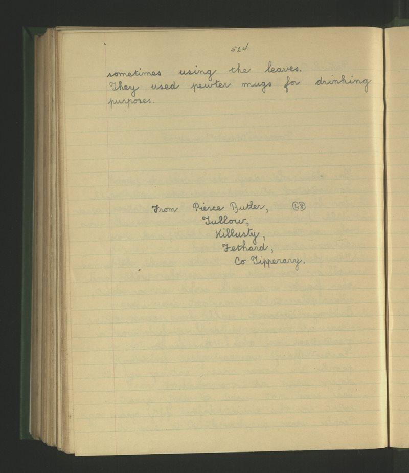 Cill Loiste (Killusty), Fíodh Árd | The Schools' Collection