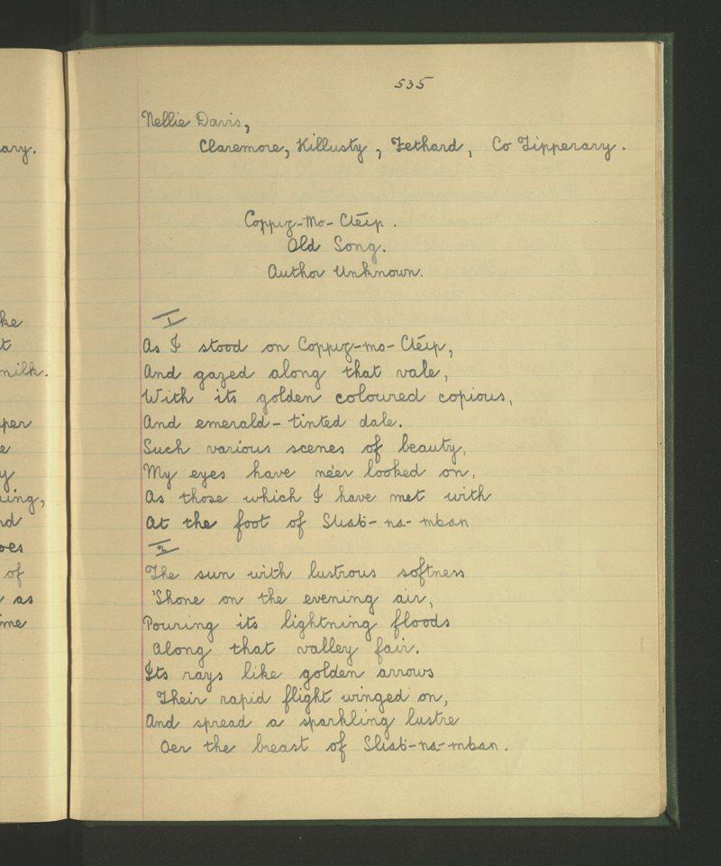 Carraig Mo Chléir - Old Song, Author Unknown